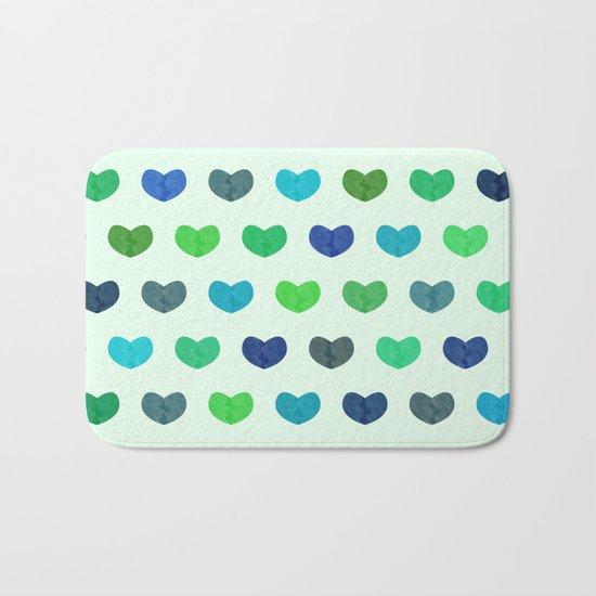 Colorful Cute Hearts Bath Mat