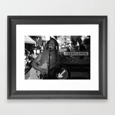 True Gentleman Framed Art Print