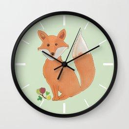 Fox and gooseberry Wall Clock