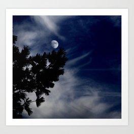 Early Winter Moon Art Print