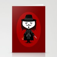 vendetta Stationery Cards featuring Vendetta by Sombras Blancas Art & Design