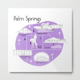 Palm Springs - Purple Metal Print