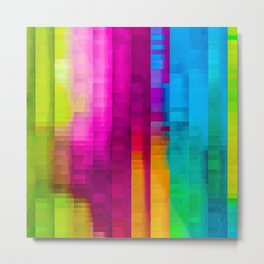 Vertical Rainbow Color Palette Metal Print