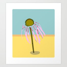 Echinacea Umbrella Art Print
