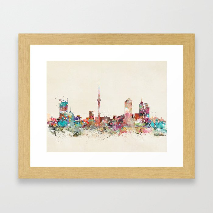 auckland new zealand Framed Art Print