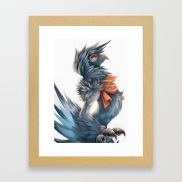 Avian Paint Sketch Framed Art Print