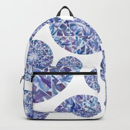 Purple Round Gem Pattern Backpack