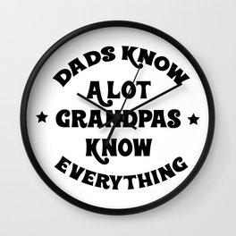 Funny Grandpa Grandpas Know Everything Wall Clock