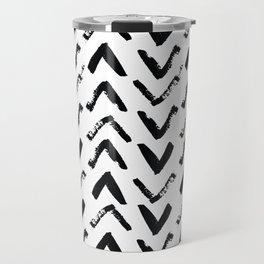 Black & White Mud Cloth Inspired Arrows Travel Mug