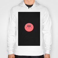 kirby Hoodies featuring Kirby Face by Veronica Grande