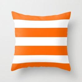 Mariniere marinière Orange Throw Pillow