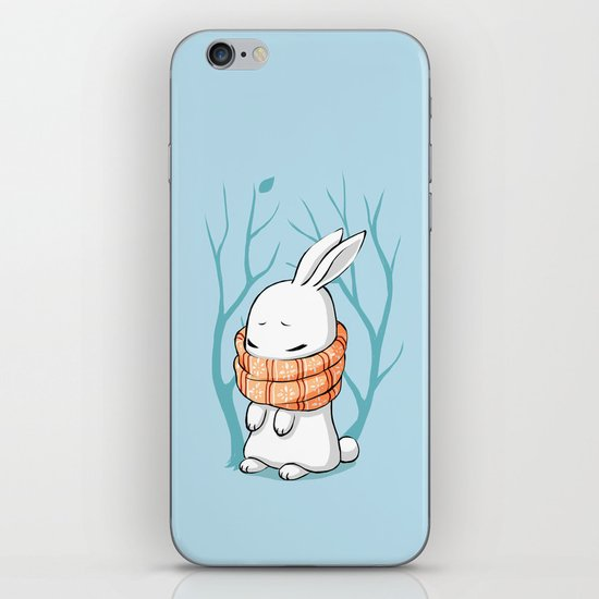 Winter Bunny iPhone & iPod Skin