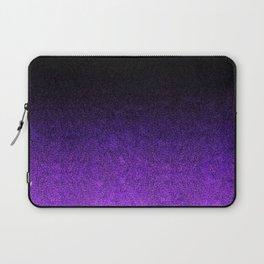 Purple & Black Glitter Gradient Laptop Sleeve