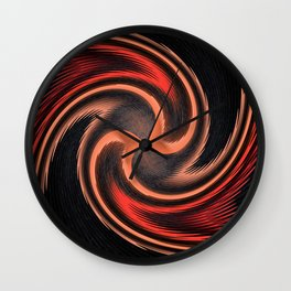 organge red waves and strips an elaborate pattern in strong Faben Wall Clock