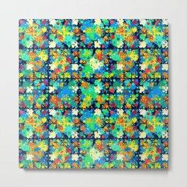 Colorful small circles pattern Metal Print