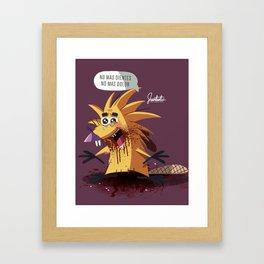 Angry B. Framed Art Print
