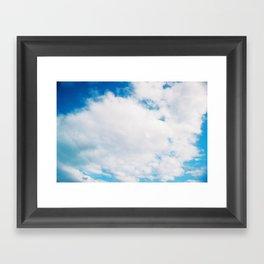 sky blue sky white Framed Art Print