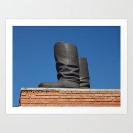 Stalin's Boots Art Print