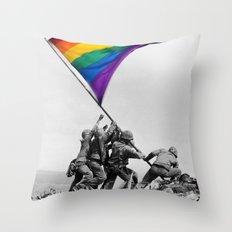Gay war Throw Pillow