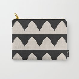 Geometric Pyramid Pattern - Black Carry-All Pouch