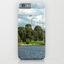 Sailing on Lake Burley Griffin, Canberra iPhone Case