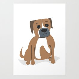 Remmington the American Bulldog Art Print