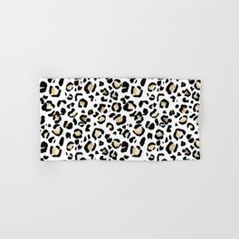 Leopard Animal Print Watercolour Painting Hand & Bath Towel