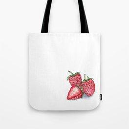Watercolour Strawberries Tote Bag