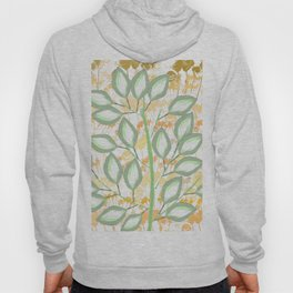 The Calming Tree With Peach And Gold Roses Hoody