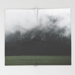 Spectral Forest - Landscape Photography Throw Blanket