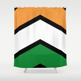 Chevron India Flag Colors Shower Curtain