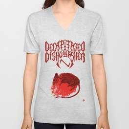 Decapitated by dishwasher III (red) Unisex V-Neck