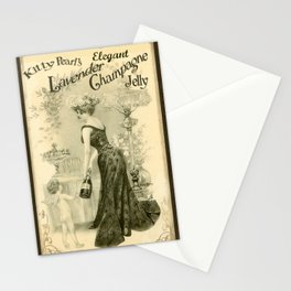 Kitty Pearl's Elegant Lavender Champagne Jelly Stationery Cards