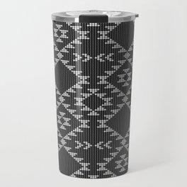 Southwestern textured navajo pattern in black & white Travel Mug