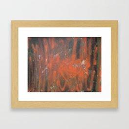 Orange House III (Destroy Everything) Framed Art Print