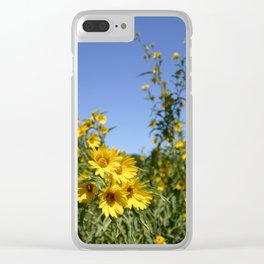 Happy! Yellow Sunflowers Clear iPhone Case