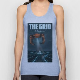 The Grid (Tron: Legacy) Travel Poster Unisex Tank Top