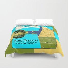 Historic Fort Marion - Castillo de San Marcos - St. Augustine Florida Duvet Cover
