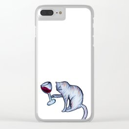 Tipsy Kitty Clear iPhone Case