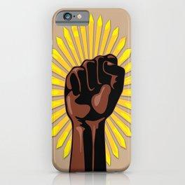 Black Power Raised Fists iPhone Case