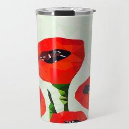 Digital Poppies Travel Mug