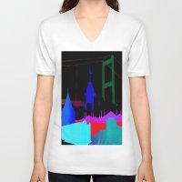 istanbul V-neck T-shirts featuring Istanbul by Duru Eksioglu