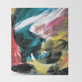 Abstract Artwork Colourful #3 Throw Blanket
