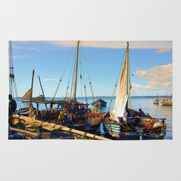 Dhow Stone Town Port Zanzibar Rug