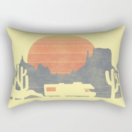 Trail of the dusty road Rectangular Pillow