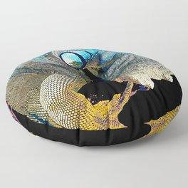Green Iguana Floor Pillow