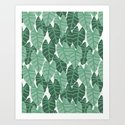 Alocasia indoor house plant hipster watercolor plant pattern botanical leaves green painting home by charlottewinter