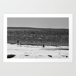 Into the water... Art Print
