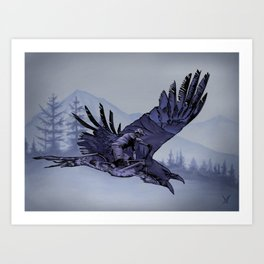 The Raven's Ride Art Print