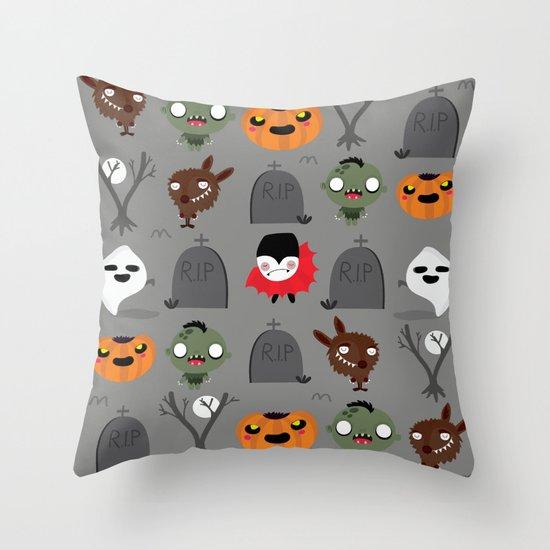 Not that spooky halloween Throw Pillow